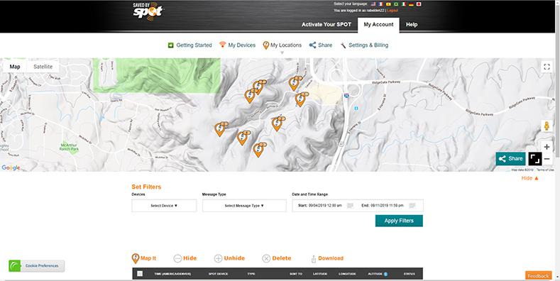 AllTrails Website Map