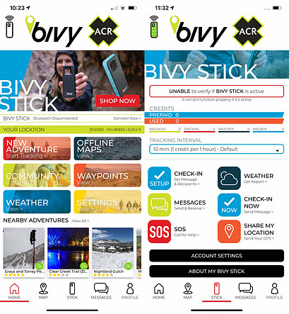 Bivy Stick App Features