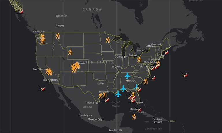 NOAA Search & Rescue Map