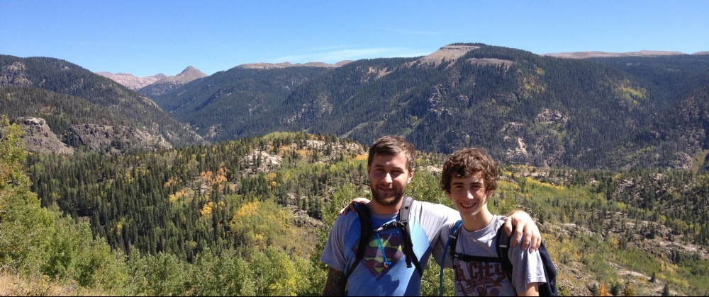 Stephan & Caleb on a Hike
